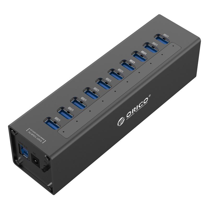 Orico Aluminium 10 Port USB3 Hub with 1m Cable - Black