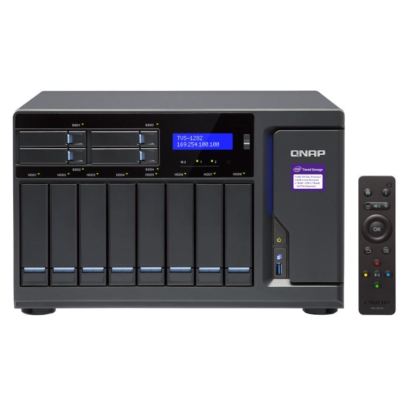 QnapTVS-1282-i3-8G 12-Bay TurboNAS Intel i3 7100