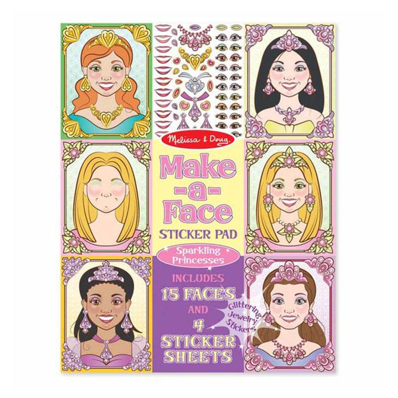 Melissa & Doug Make-a-Face - Sparkling Princesses