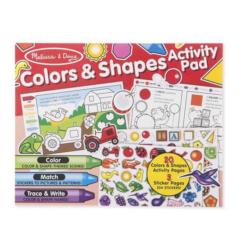 Melissa & Doug Colours & Shapes Activity Pad