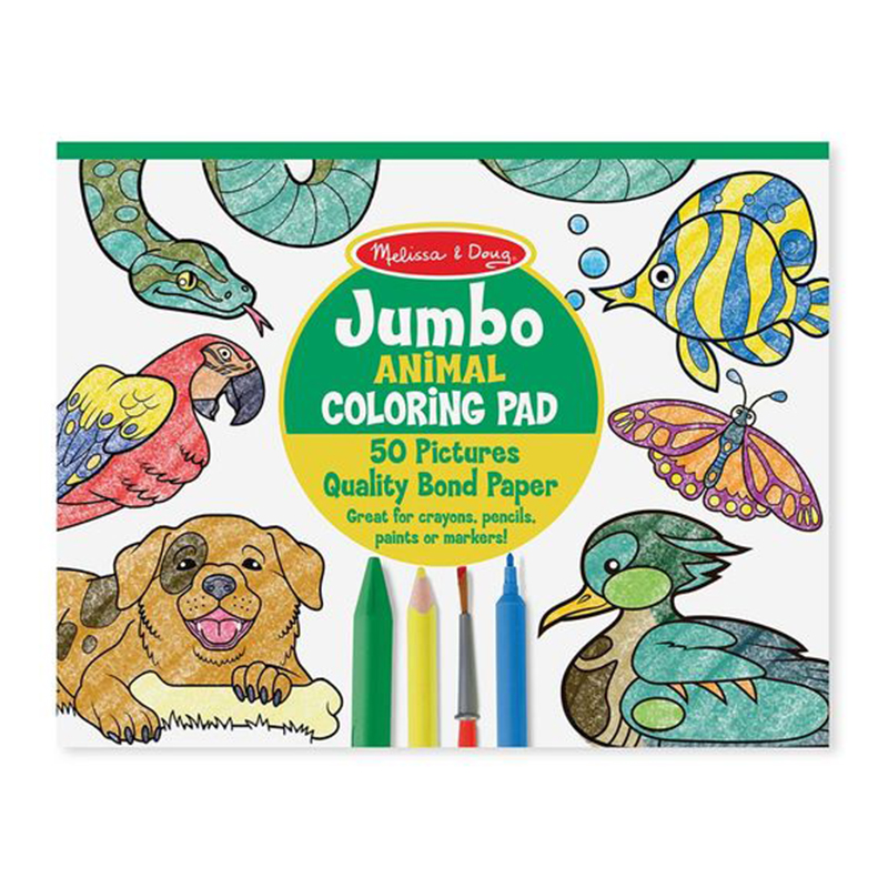 Melissa & Doug Jumbo Colouring Pad - Animals
