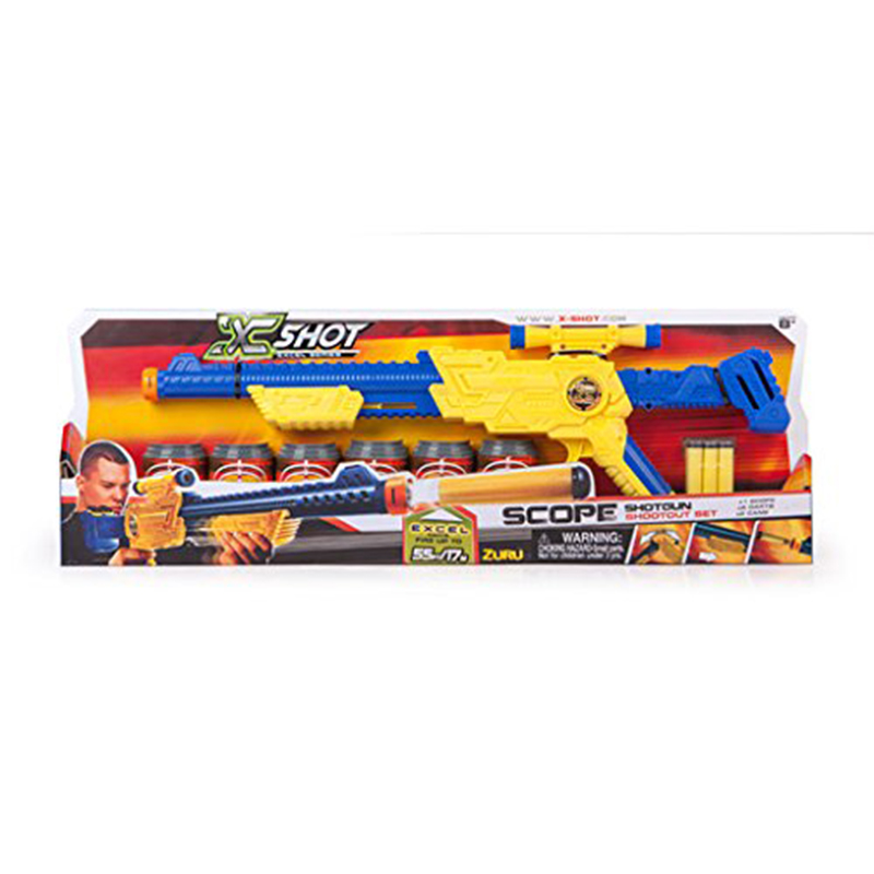 XSHOT Excel Hawk Eye Shooter (6 cans/8 darts)