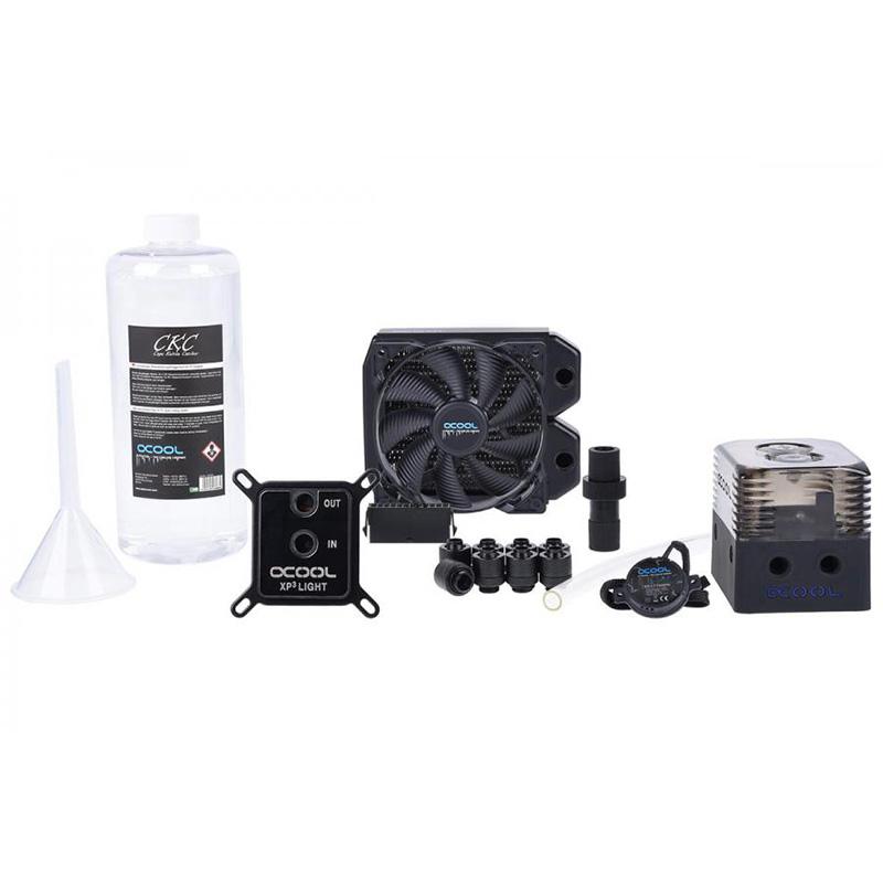 Alphacool Eissturm Copper 360mm Liquid Cooling Kit - Black