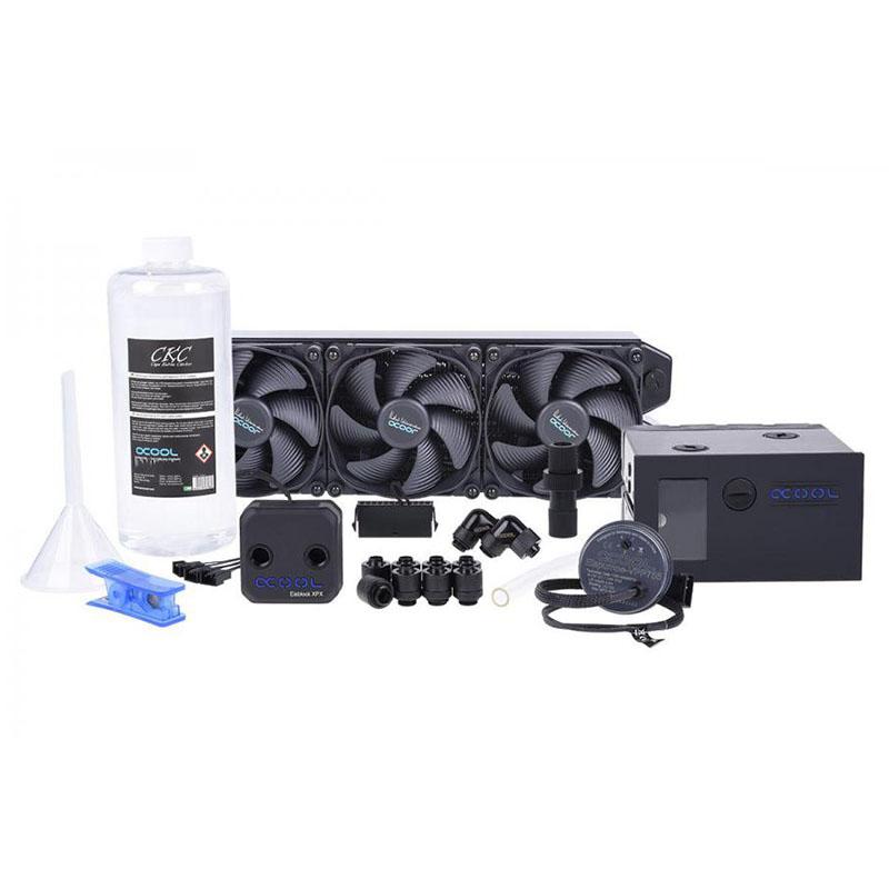 Alphacool Eissturm Blizzard Copper 360mm Liquid Cooling Kit - Black