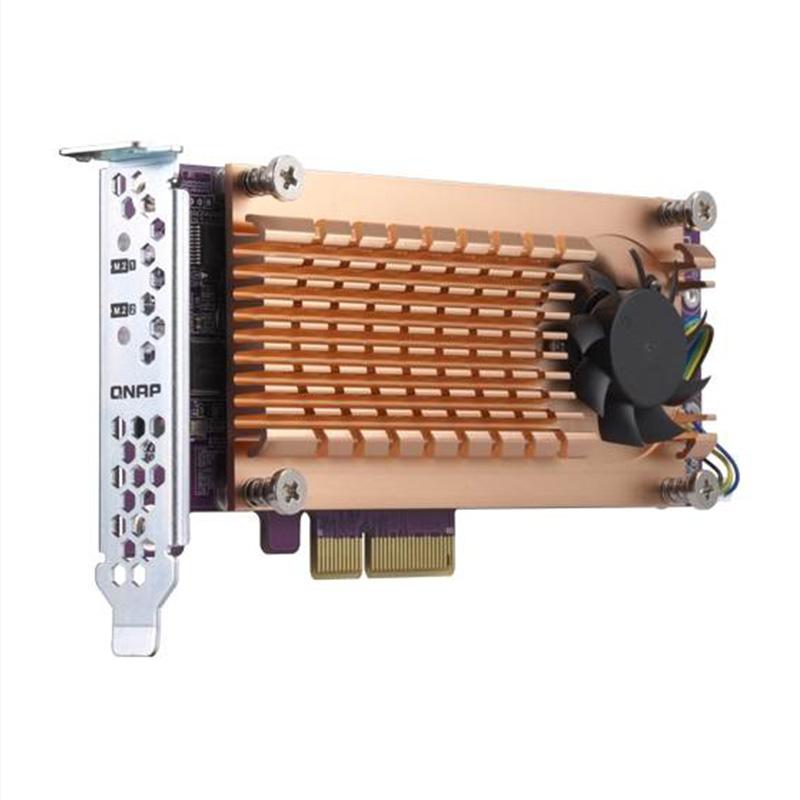 QNAP Dual M.2 2280/22110 PCIe SSD Expansion Card (QM2-2P-344)