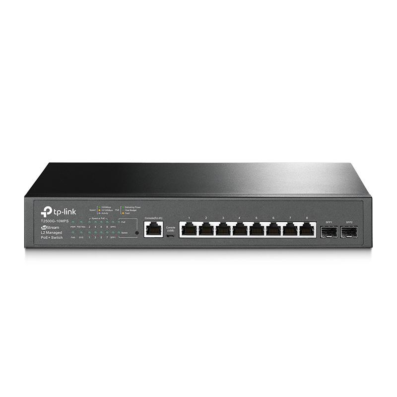 TP-Link JetStream 24 Port Gigabit SFP L2 Managed PoE+ Switch - (T2600G-28MPS)