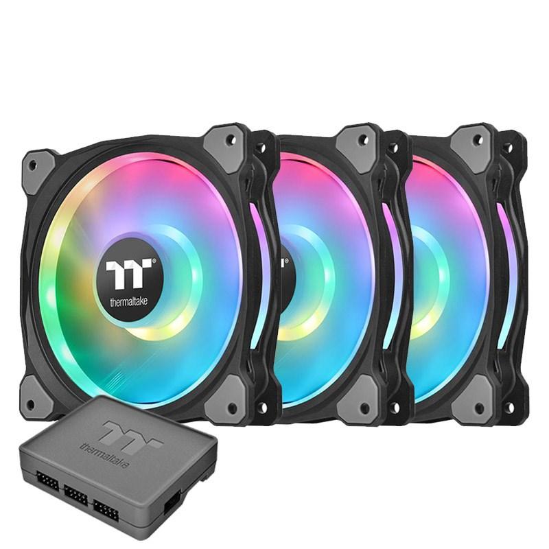 Thermaltake Riing Duo 140mm RGB Radiator Fan - 3 pack
