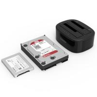 Orico 2.5in or 3.5in Dual Bay Hard Drive Clone and Dock - Black