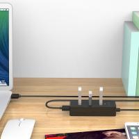 Orico W5PH4 4 Port USB3 Hub - Black