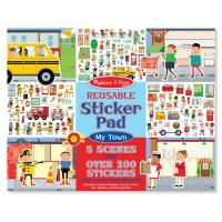 Melissa & Doug Reusable Sticker Pad - My Town