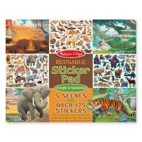 Melissa & Doug Reusable Sticker Pad - Jungle & Savanna
