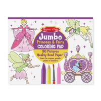 Melissa & Doug Jumbo Colouring Pad - Princess & Fairy