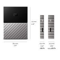 Western Digital My Passport Ultra 1TB USB3.0 External Hard Drive - Metallic Black/Grey