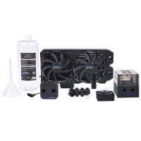 Alphacool Eissturm Hurricane Copper 280mm Liquid Cooling Kit - Black