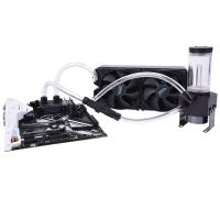 Alphacool Eissturm Tornado Copper 280mm Liquid Cooling Kit - Black