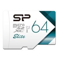 Silicon Power Elite 64GB microSDXC UHS-1 Memory Card with Adapter