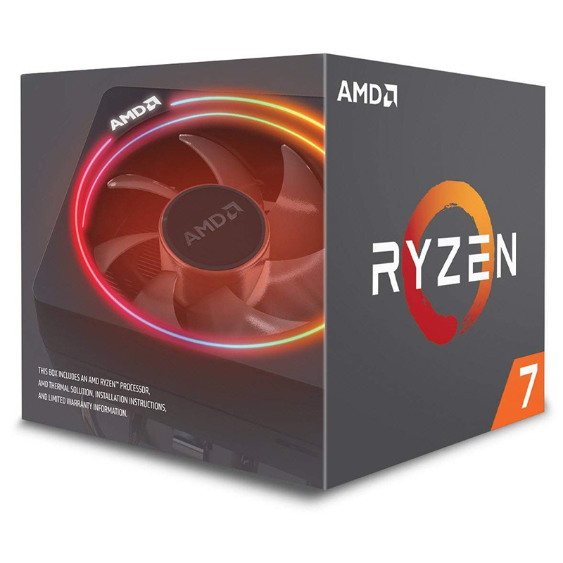 AMD Ryzen 7 2700X 8-Core Socket AM4 3.7GHz CPU Processor with Wraith PRism RGB Cooler