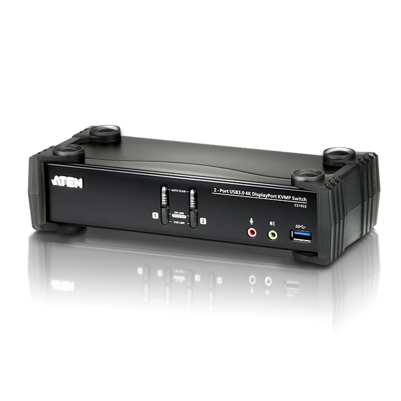 Aten 2 Port USB3.0 KVMP 4K Display Port Switch