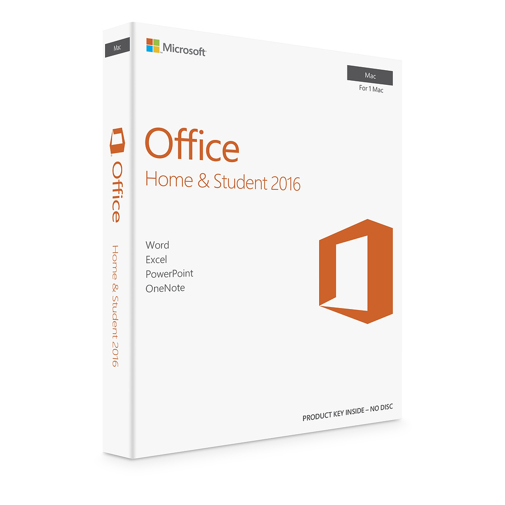 Microsoft Office Mac Home Student 2016 English