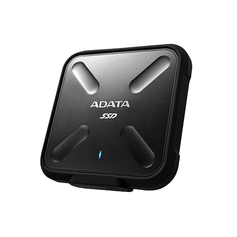 ADATA 256GB SD700 Rugged External USB 3.1 SSD - Black
