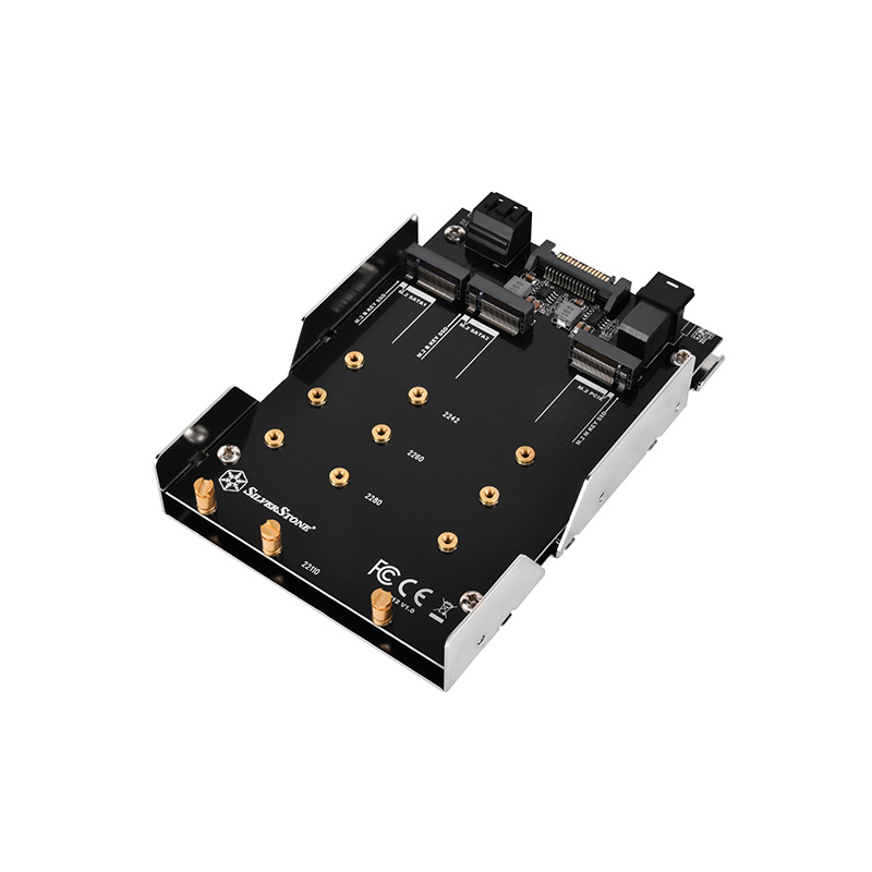 Silverstone SDP12 M.2 NVMe and SATA to SATA 3.5in Drive Bay