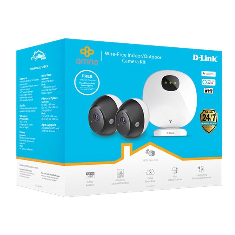 D-Link DCS-2802KT Indoor/Outdoor Wire-Free Camera Kit