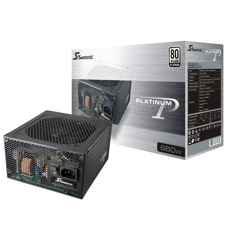 SeaSonic 660W Platinum Series Modular Power Supply (SS-660XP2)