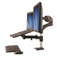 Startech Desk-Mount Monitor Arm with Laptop Stand Full Motion Articulating