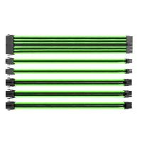 Thermaltake TTMod Sleeved Extension Cable Kit - Green and Black