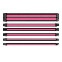 Thermaltake TTMod Sleeved Extension Cable Kit - Pink and Black