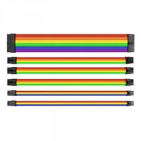Thermaltake TTMod Sleeved Extension Cable Kit - Rainbow