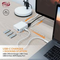 mbeat Cubix Portable USB C Docking Station - White