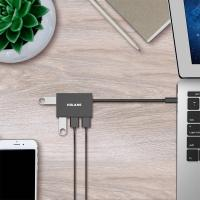 Volans 4 Port Aluminium USB 3.0 Type C Hub (VL-HB04S-C)