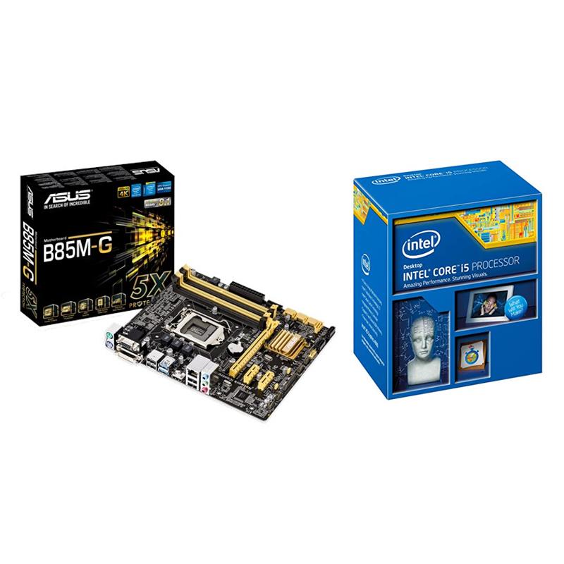 Intel i5 4460 CPU + Asus B85M-G Motherboard Combo - Umart com au
