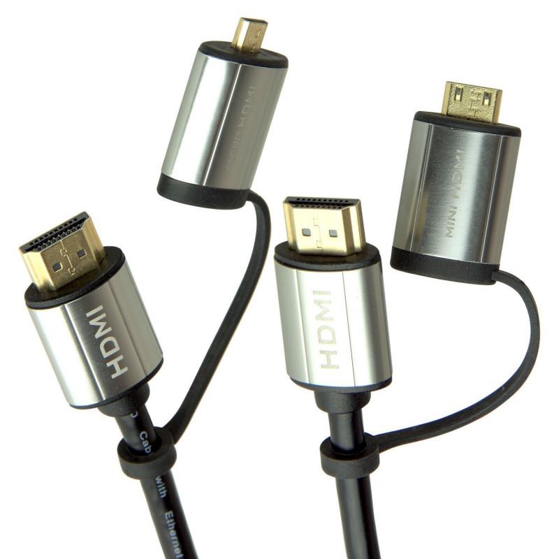 Laser CB-HDMI2X2-4K HDMI 4K Full Size & Mini HDMI - 1.8m