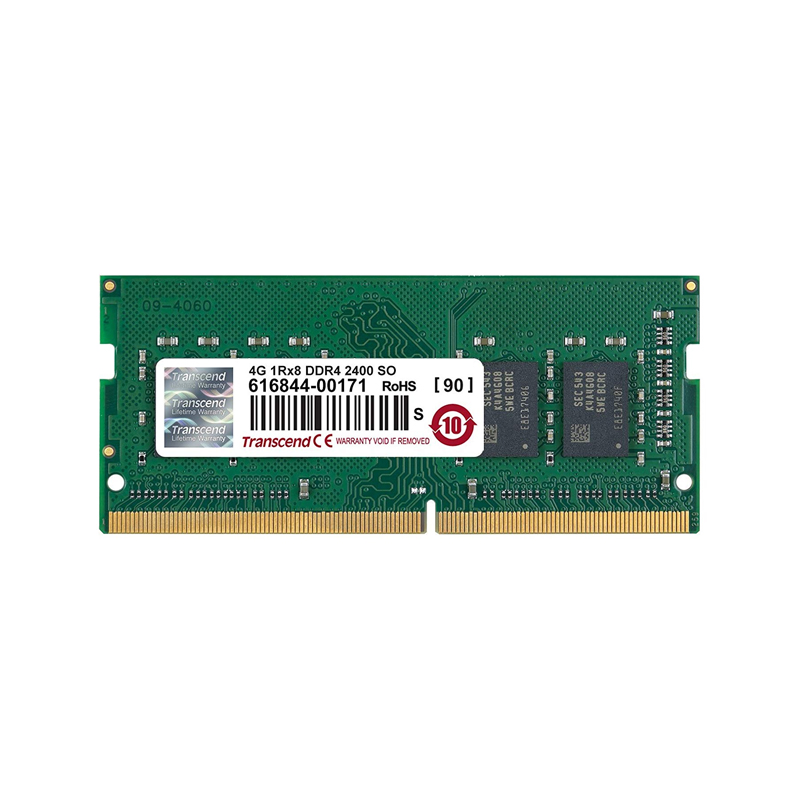Transcend 4GB (1x4GB) DDR4 2400Mhz SO-DIMM CL17 Laptop RAM