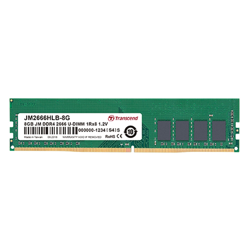 Transcend 8GB (1x8GB) DDR4 2666Mhz SO-DIMM CL19 Laptop RAM