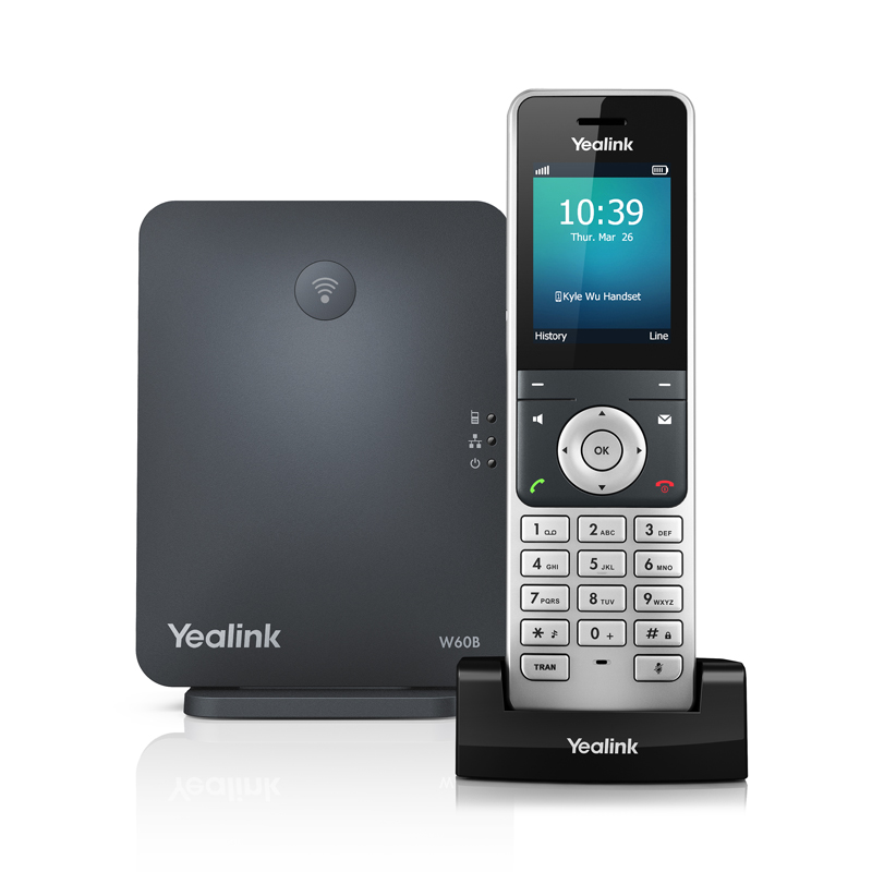 Yealink W60P High-performance DECT VOIP Phone System with Base Station