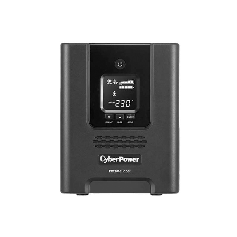 CyberPower PRO series 2200VA Tower UPS with LCD(PR2200ELCDSL) - 3 yrs