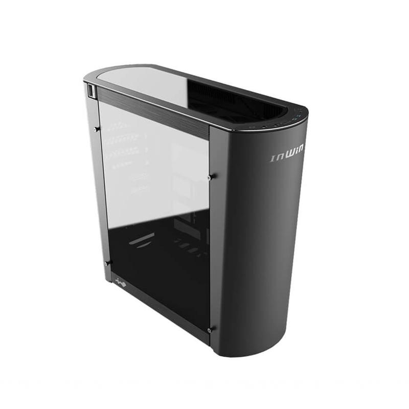 Inwin 915 Aluminium Full Tower Case Black Tinted Tempered Glass