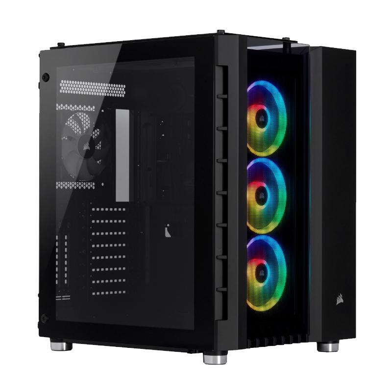 Corsair Crystal 680X RGB Tempered Glass Mid Tower EATX Case - Black