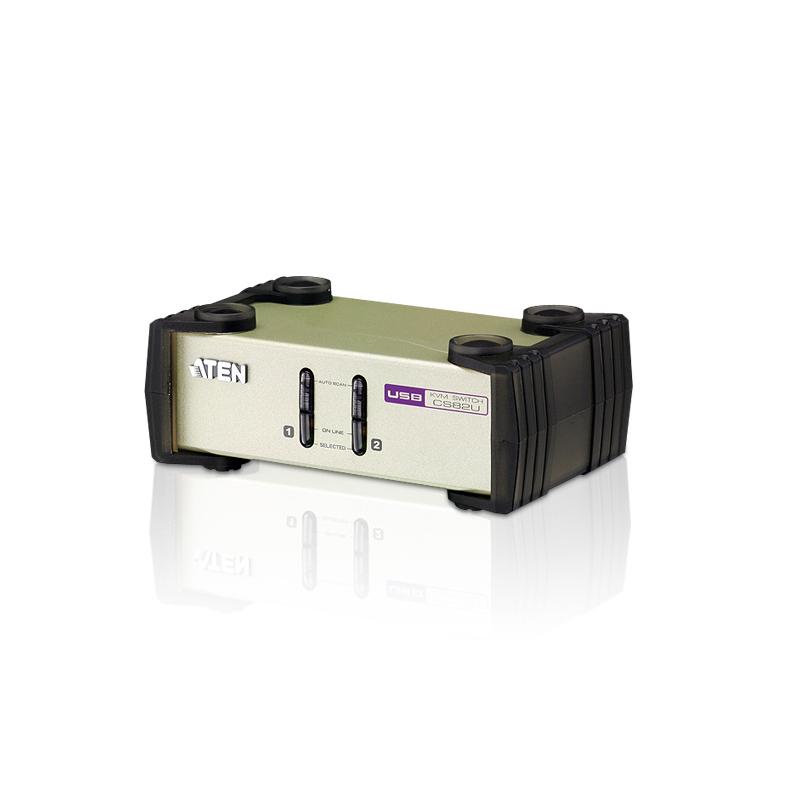 Aten 2 Port USB & PS/2 VGA KVM Switch (CS82U)
