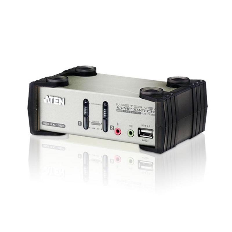 Aten 2 Port USB 2.0 VGA Audio KVMP Switch with OSD (CS1732BC-AT)