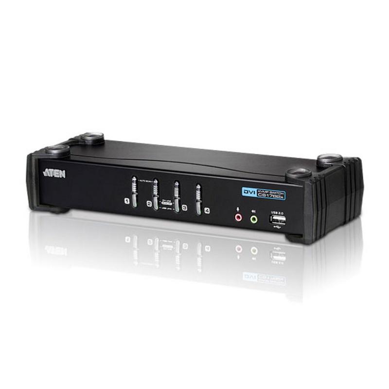 Aten 4 Port USB 2.0 DVI KVMP Switch (CS1764AC-AT-U)