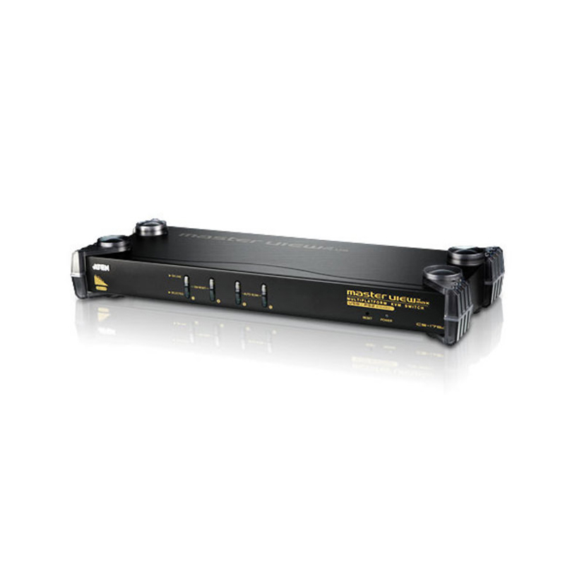 Aten 4 Port PS/2-USB VGA/Audio Rack KVM Switch (CS1754)