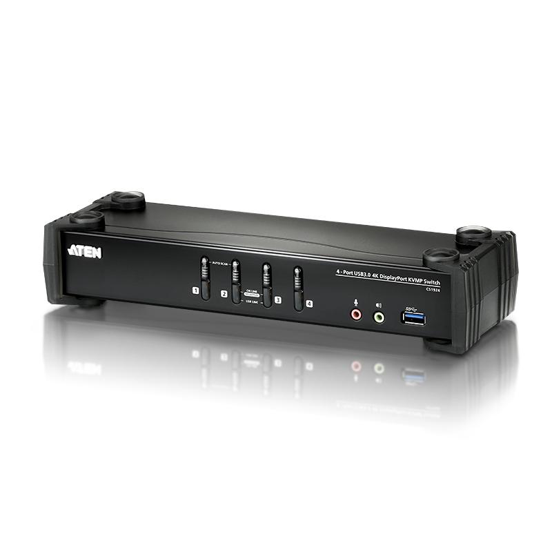 Aten 4 Port USB 3.0 4K DisplayPort KVMP Switch (CS1924)