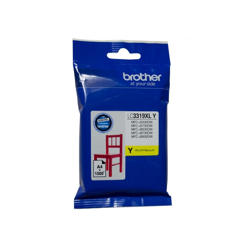 Brother LC-3319XLY XL Yellow Ink Cartridge (1500 page yield)