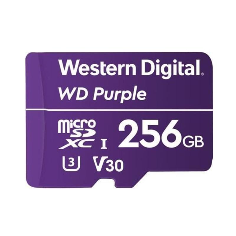 Western Digital Purple 256GB C10 100MB/s Surveillance MicroSDXC Card