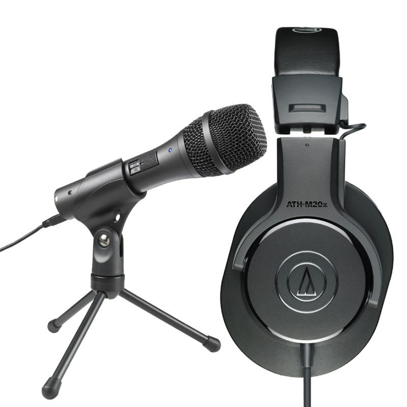 Audio Technica Microphone and Headphone Recording Combo (AT2005/M20X)