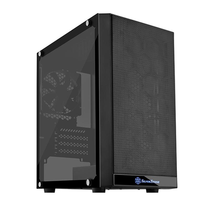 SilverStone PS15B-G Precision Tempered Glass mATX Case - Black
